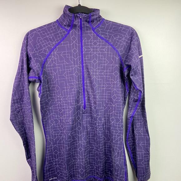 Nike Jackets & Blazers - Women's Medium NIKE Dri-Fit Purple Zip Up